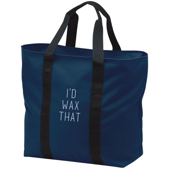 Id Wax That All Purpose Tote Bag - Navy/black / One Size - Bags