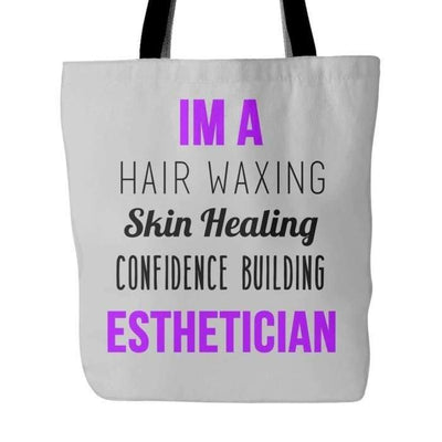 Im An Esthetician Tote - Gray - Tote Bags
