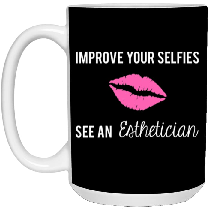 Improve Your Selfies Mugs - Mug - 15Oz / Black / One Size - Apparel