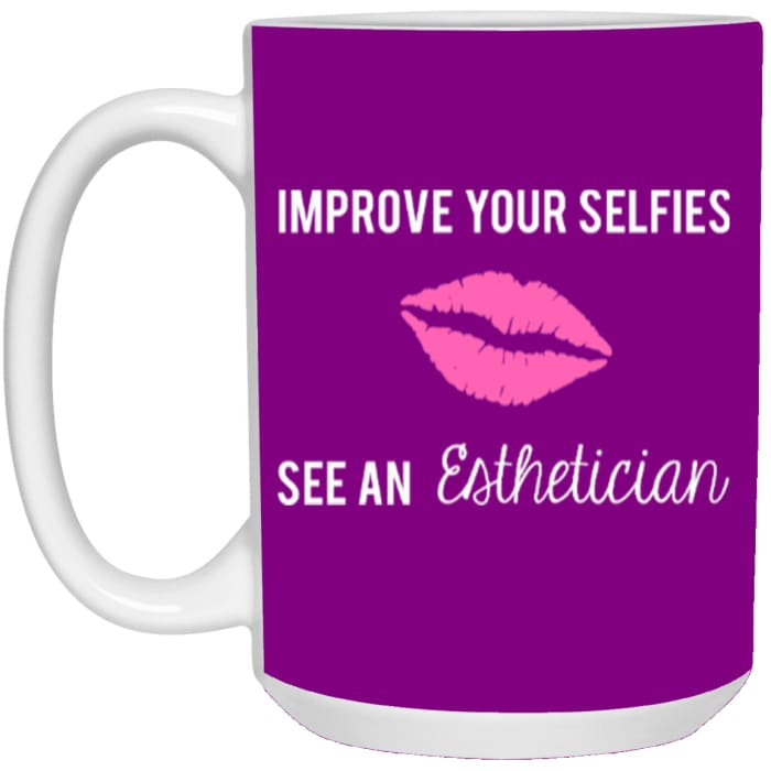 Improve Your Selfies Mugs - Mug - 15Oz / Purple / One Size - Apparel