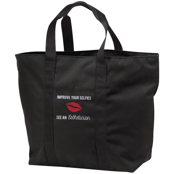 Improve Your Selfies Tote Bag - Black/black / One Size - Bags