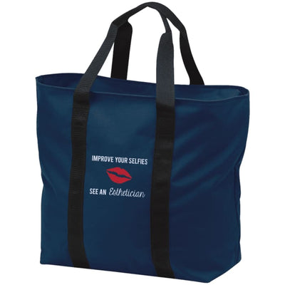 Improve Your Selfies Tote Bag - Navy/black / One Size - Bags