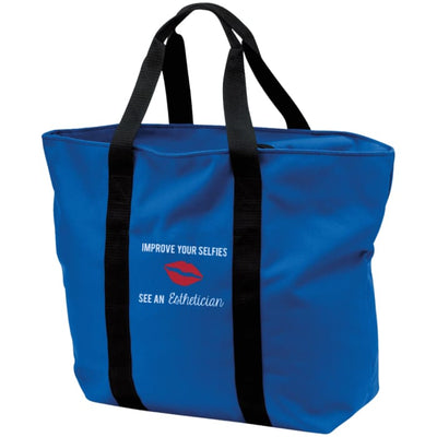 Improve Your Selfies Tote Bag - Royal/black / One Size - Bags