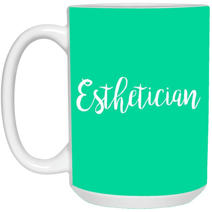 Just Esthetician Mugs - Mug - 15Oz / Aqua / One Size - Apparel