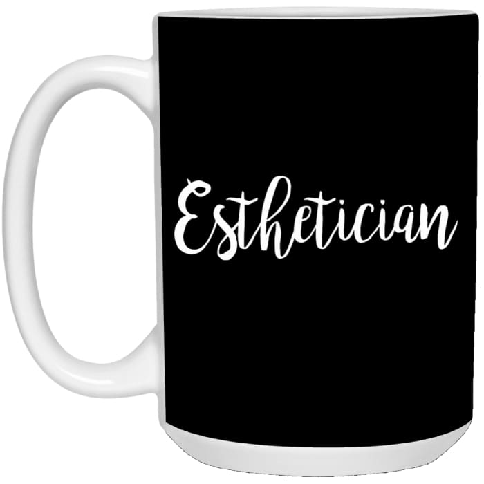 Just Esthetician Mugs - Mug - 15Oz / Black / One Size - Apparel