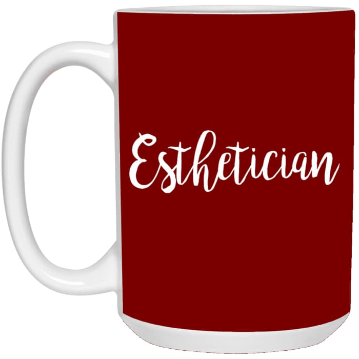 Just Esthetician Mugs - Mug - 15Oz / Red / One Size - Apparel