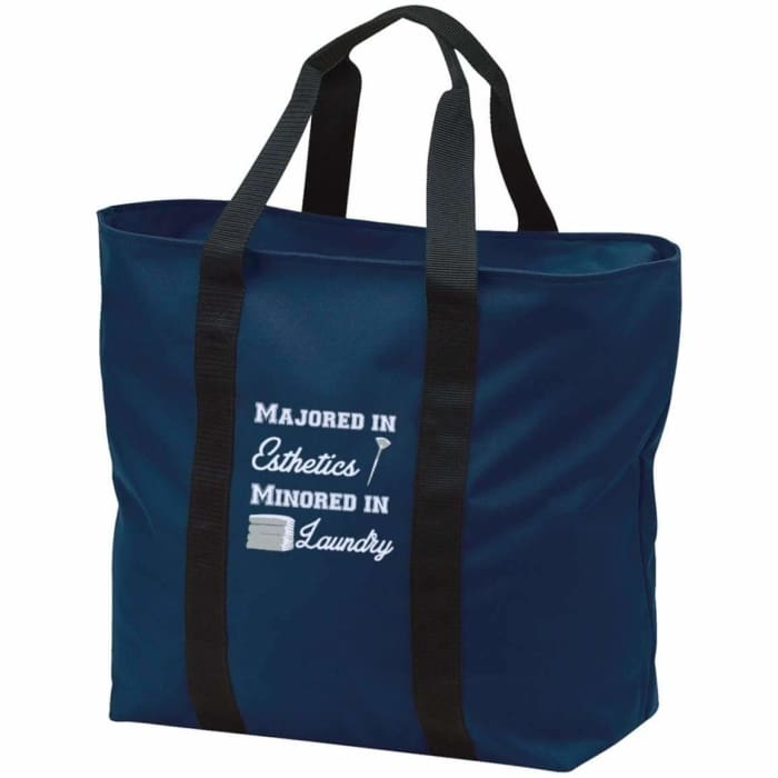 Majored In Esthetics Tote Bag - Navy/black / One Size - Bags
