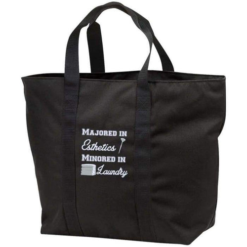 Majored In Esthetics Tote Bag - Black/black / One Size - Bags