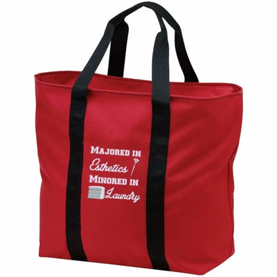 Majored In Esthetics Tote Bag - Red/black / One Size - Bags