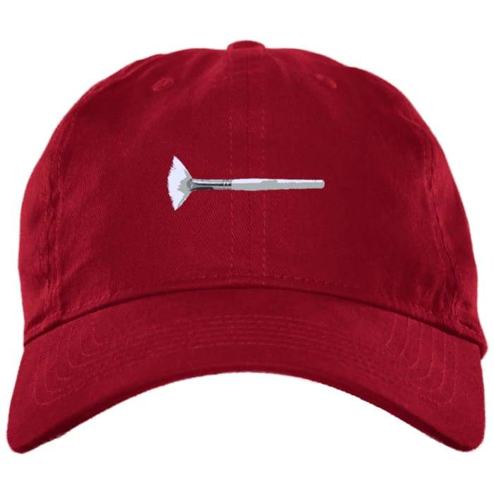 Mask Brush Dad Hat - Red / One Size - Hats