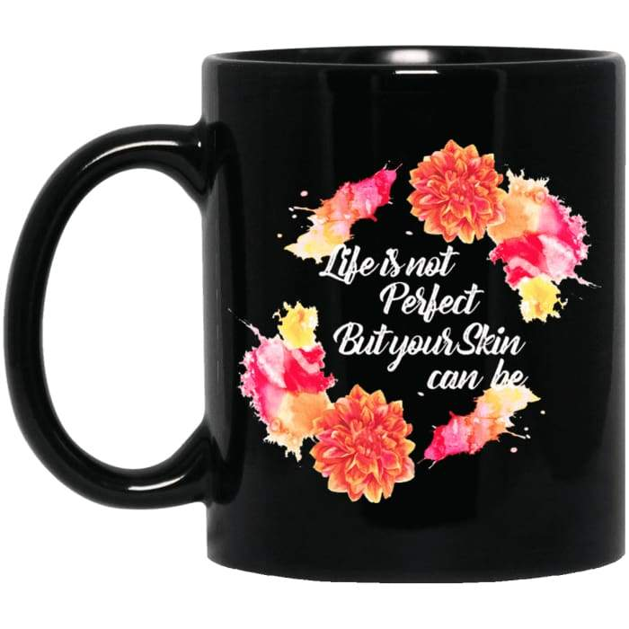 Perfect Skin Mugs - Black 11 Oz. Mug / Black / One Size - Apparel