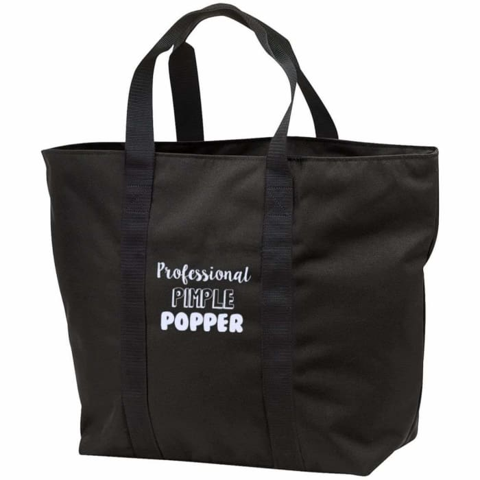 Professional Pimple Popper Tote Bag - Black/black / One Size - Bags