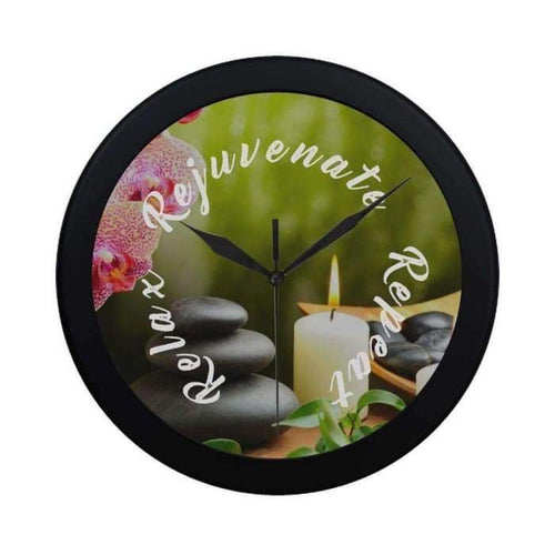 Relax Rejuvenate Repeat Circular Wall Clock - Wall Clock