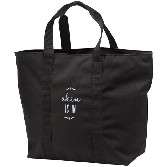 Skin Is In Tote Bag - Black/black / One Size - Bags