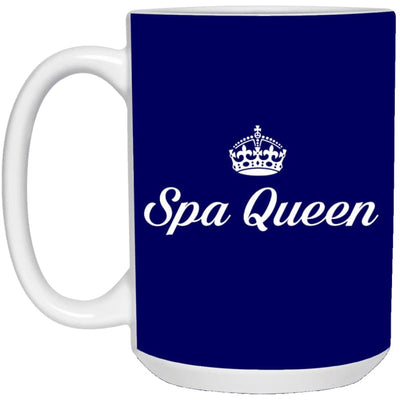 Spa Queen Mugs - Mug - 15Oz / Navy / One Size - Apparel