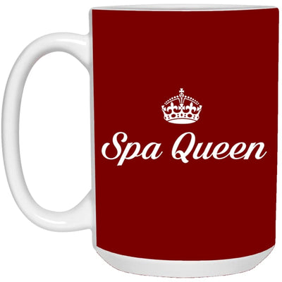 Spa Queen Mugs - Mug - 15Oz / Red / One Size - Apparel