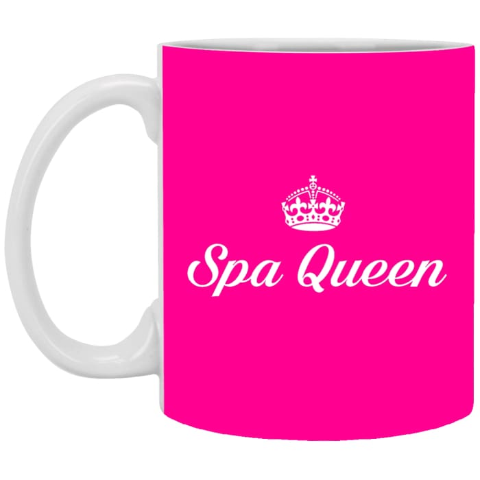 Spa Queen Mugs - 11 Oz. Mug / Pink / One Size - Apparel