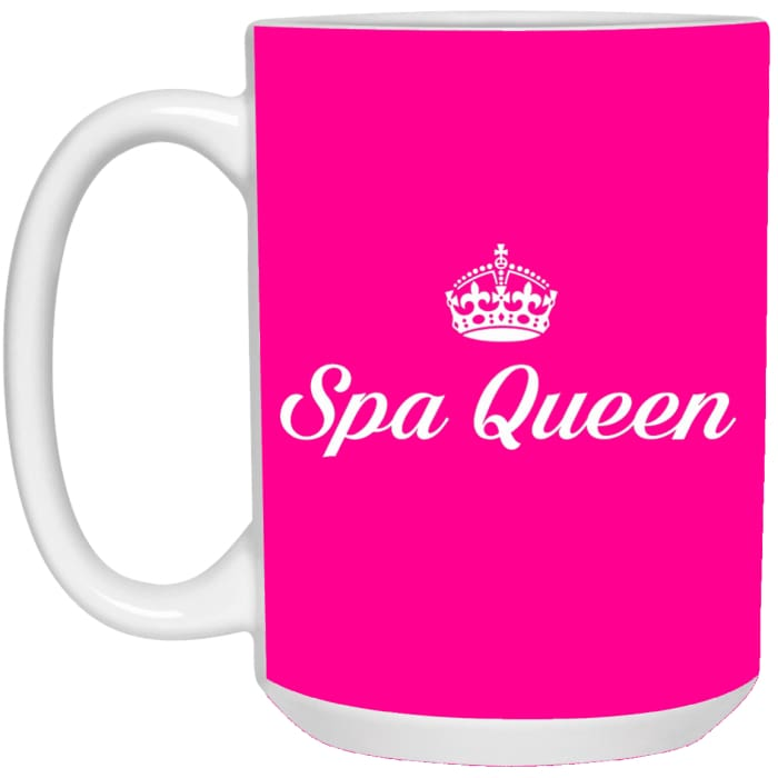 Spa Queen Mugs - Mug - 15Oz / Pink / One Size - Apparel