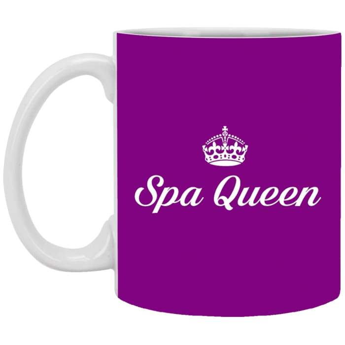 Spa Queen Mugs - 11 Oz. Mug / Purple / One Size - Apparel