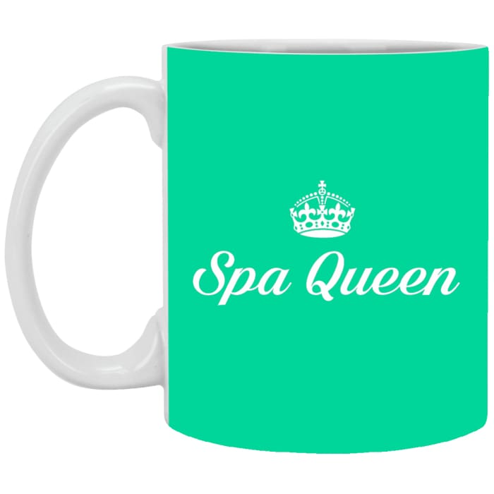Spa Queen Mugs - 11 Oz. Mug / Aqua / One Size - Apparel