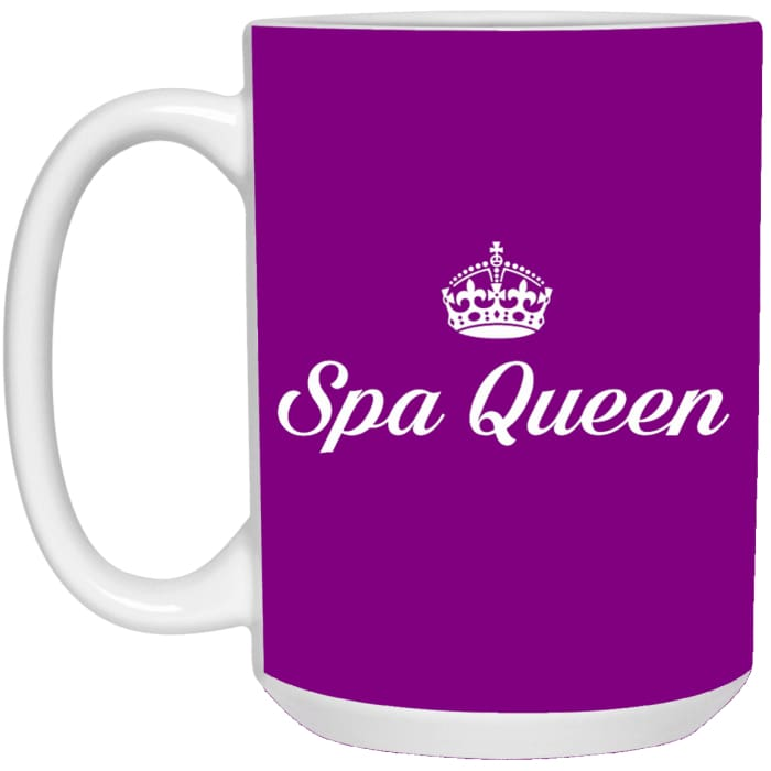 Spa Queen Mugs - Mug - 15Oz / Purple / One Size - Apparel
