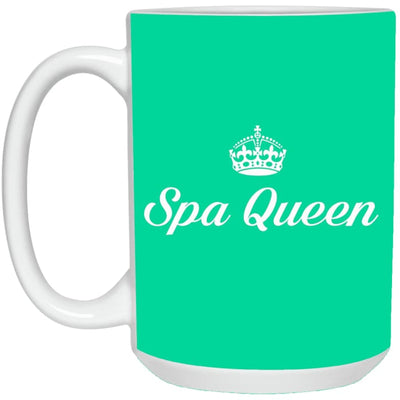 Spa Queen Mugs - Mug - 15Oz / Aqua / One Size - Apparel