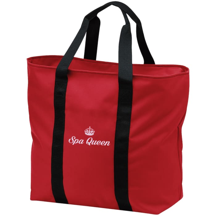 Spa Queen Tote Bag - Red/black / One Size - Bags
