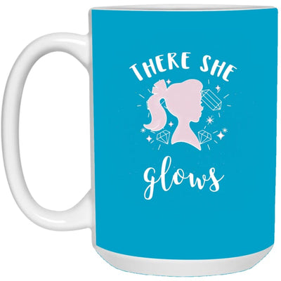 There She Glows Mug - Turquoise / One Size - Drinkware