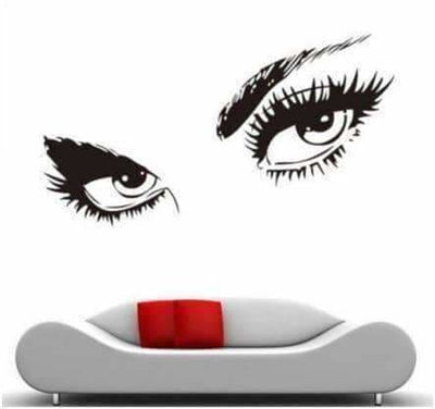 Wall Decal Eyelashes - Spa Decor