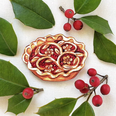 Fancy Pie Brooch