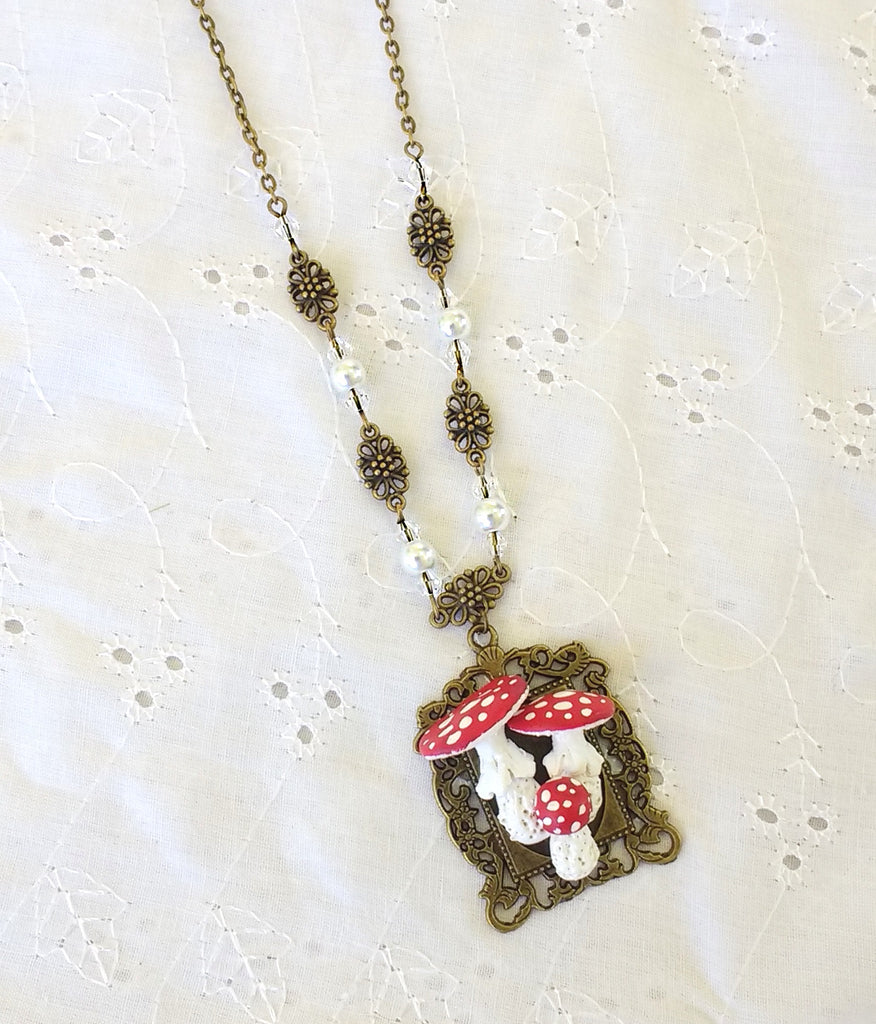 Fly Agaric Specimen Necklace