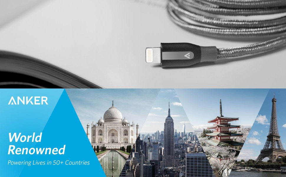 Anker Powerline+ Lightning 0.9m by TECHinno สายชาร์จ iPhone iPad ไอโฟน