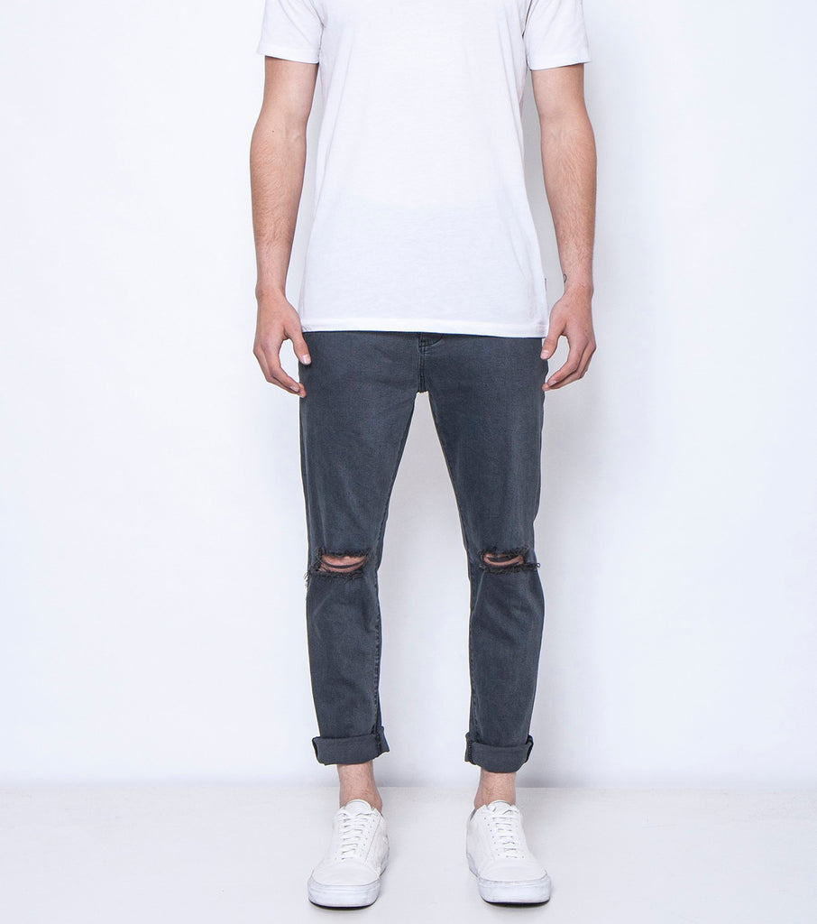 Pipes Crop - Smoulder Black Slash - Ziggy Denim