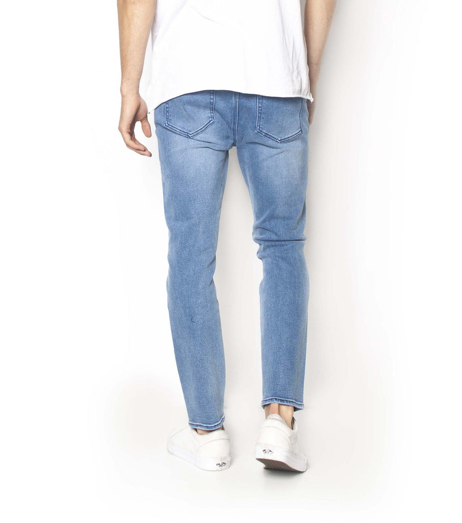 Pipes Crop Jeans -Blue Metal - Ziggy Denim