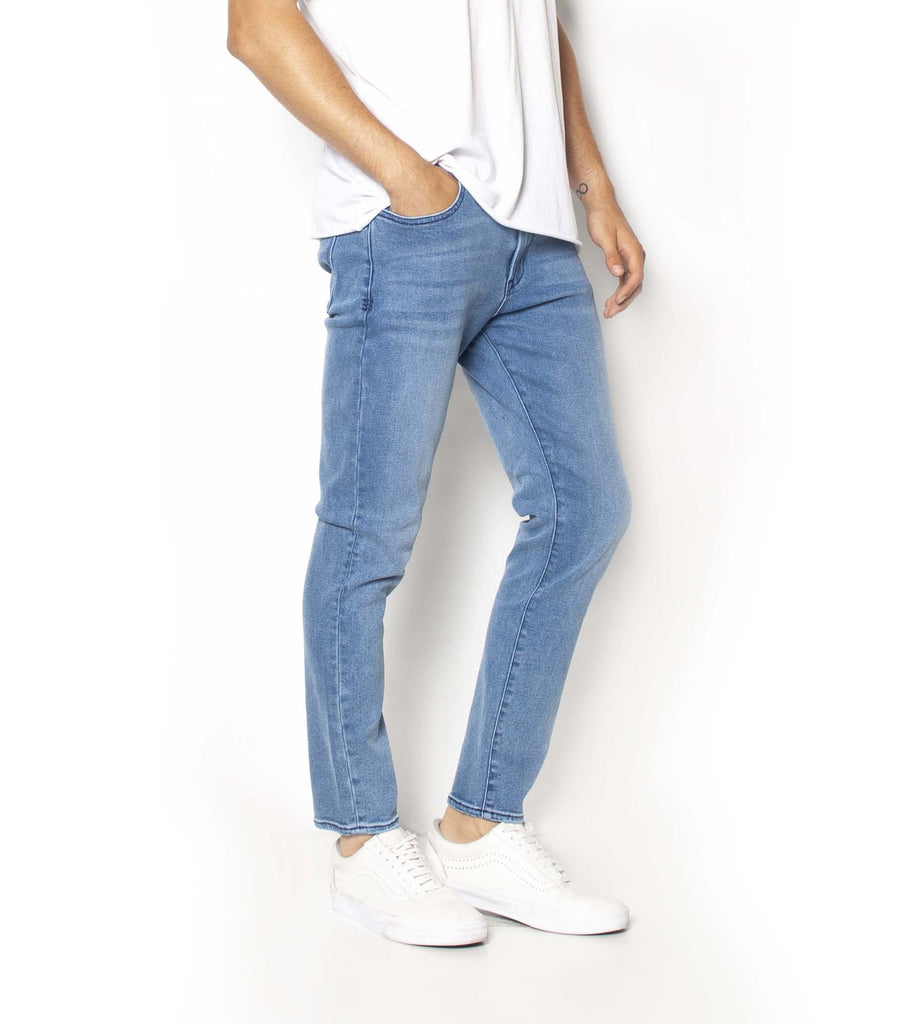 PRE ORDER - Pipes Crop Jeans -Blue Metal - Ziggy Denim
