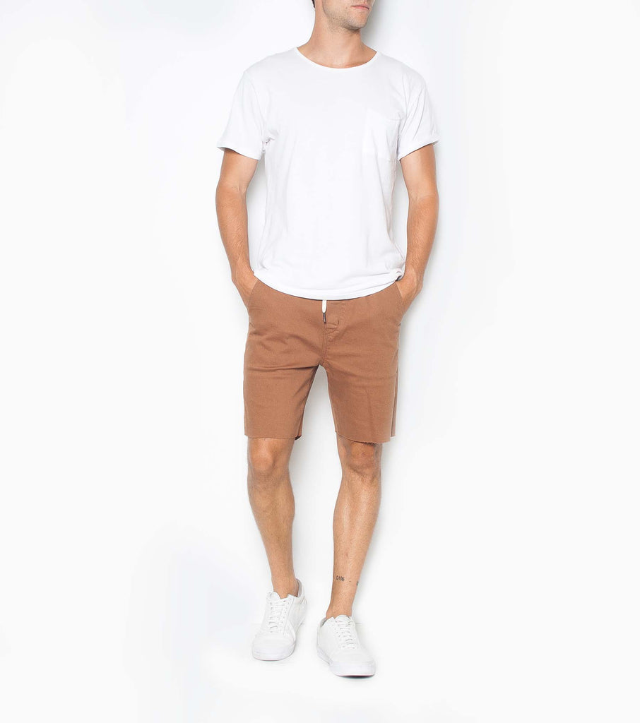 Cruiser Short - Pigment Caramel - Ziggy Denim caramel brown mens short ziggy denim