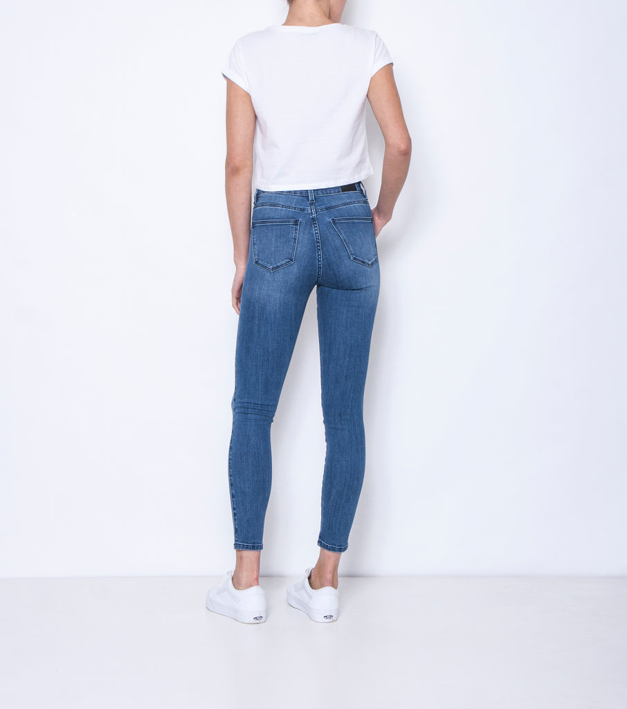 Swizzle Sticks Jean - Blue Flame Neat - Ziggy Denim