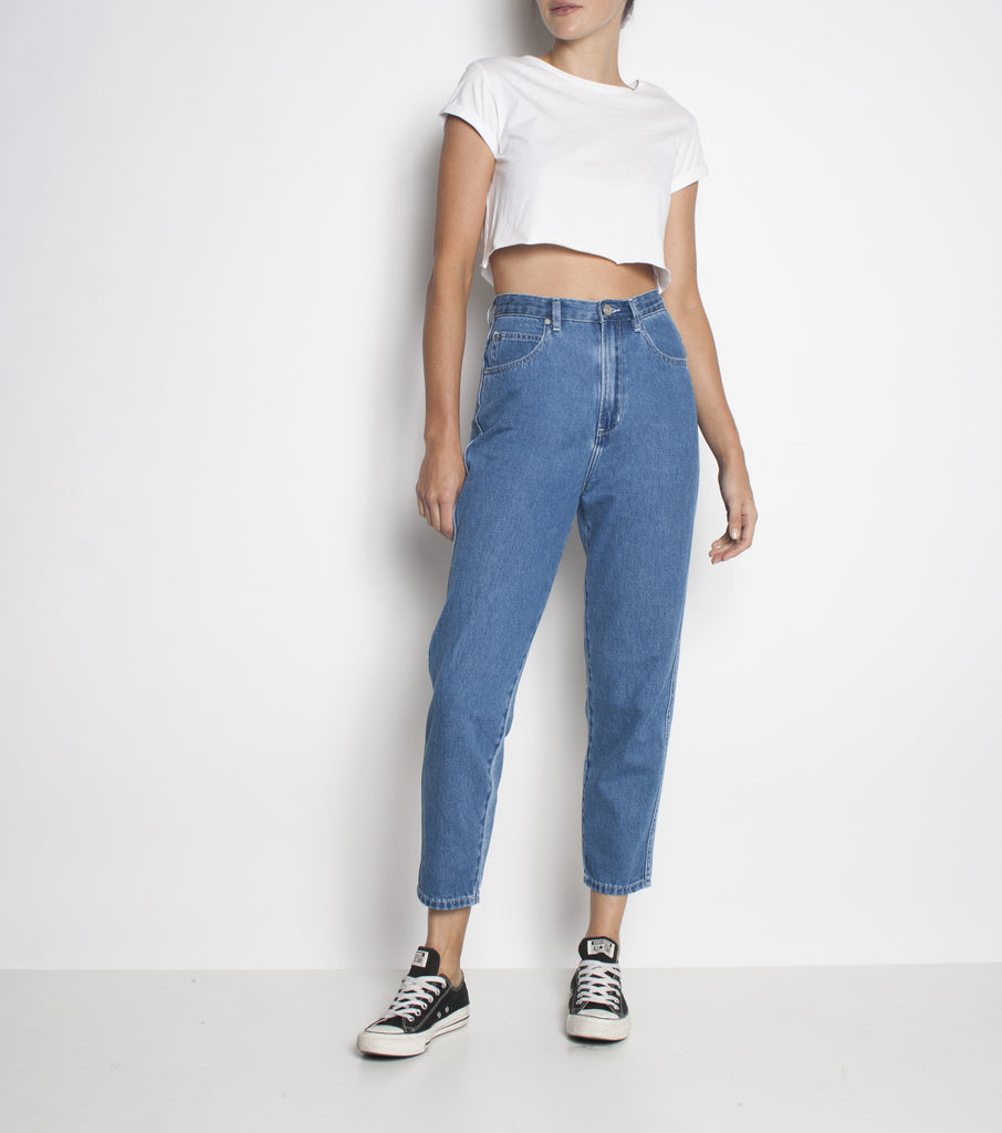 Meet My Mum Jean - Midsummer Blues - Ziggy Denim dark denim high waisted jean wardrobe staple ziggy denim