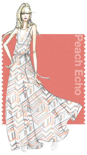 PANTONE Peach Echo. Design by Rebecca Minkoff.