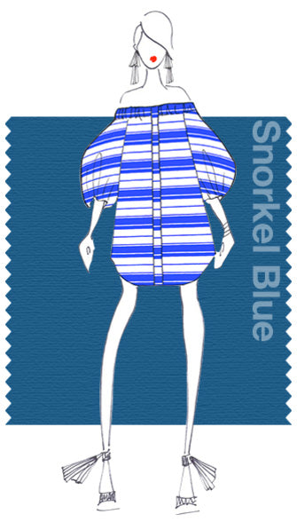 PANTONE Snorkle Blue. Design by WHIT NY.