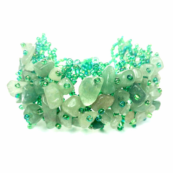 Light Green Beaded Stone Bracelet