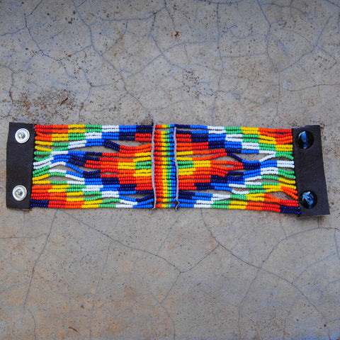 Colorful Diamond Maasai Snap Bracelet