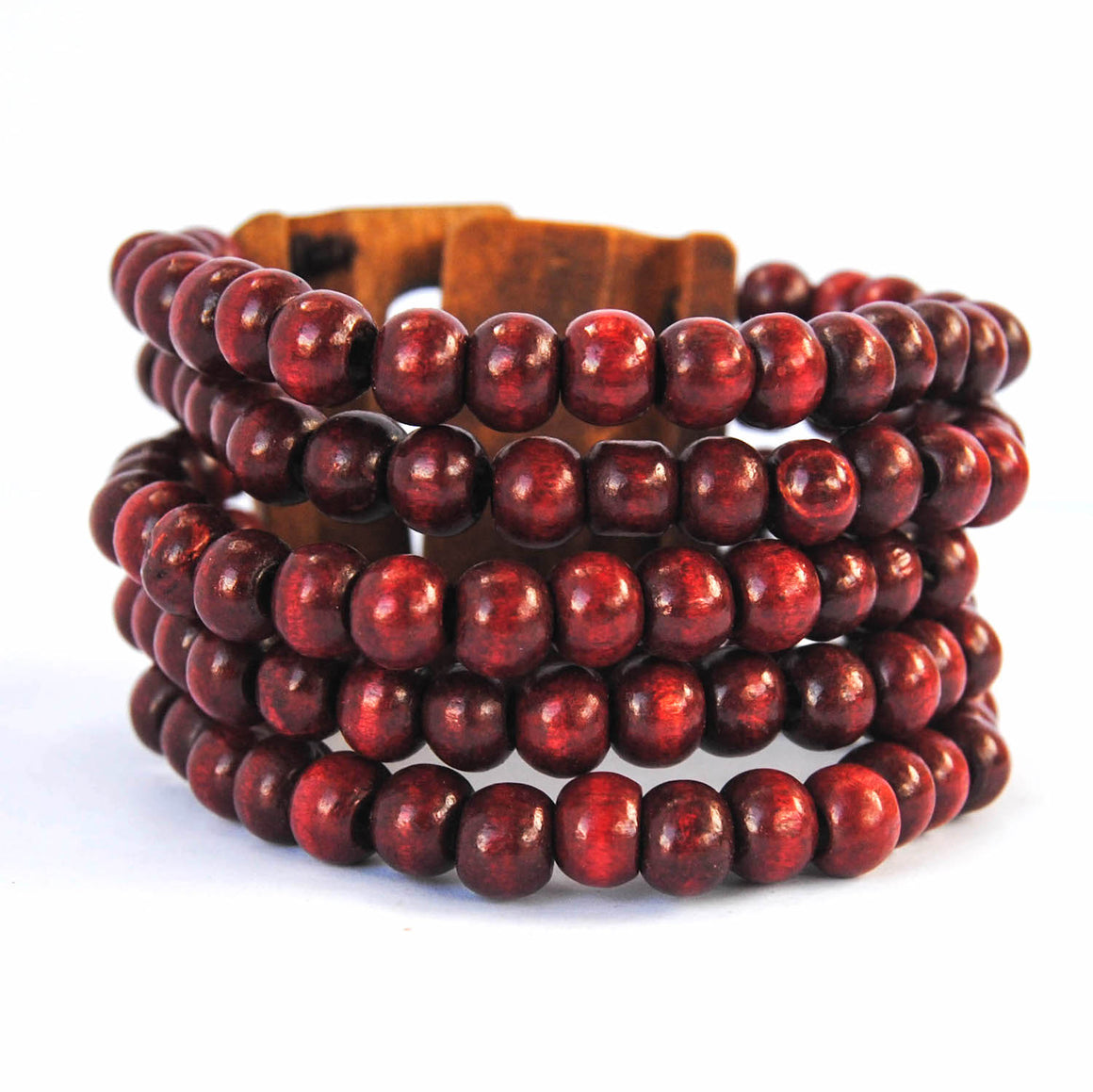 Dark Red Wooden Bracelet