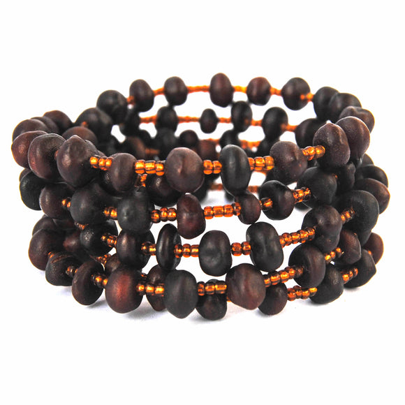 Brown Seeds Coil Bracelet