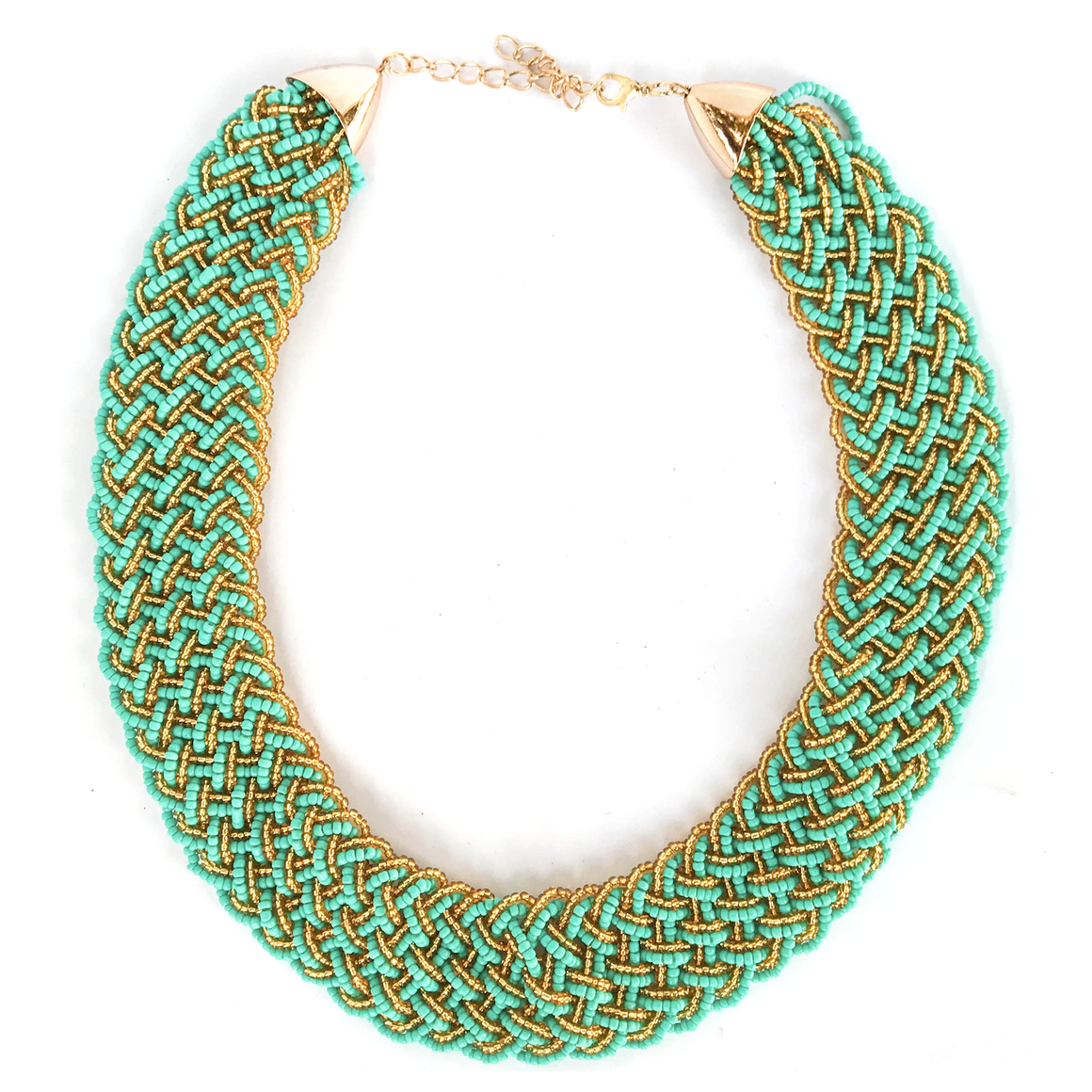 Turquoise Braided Necklace