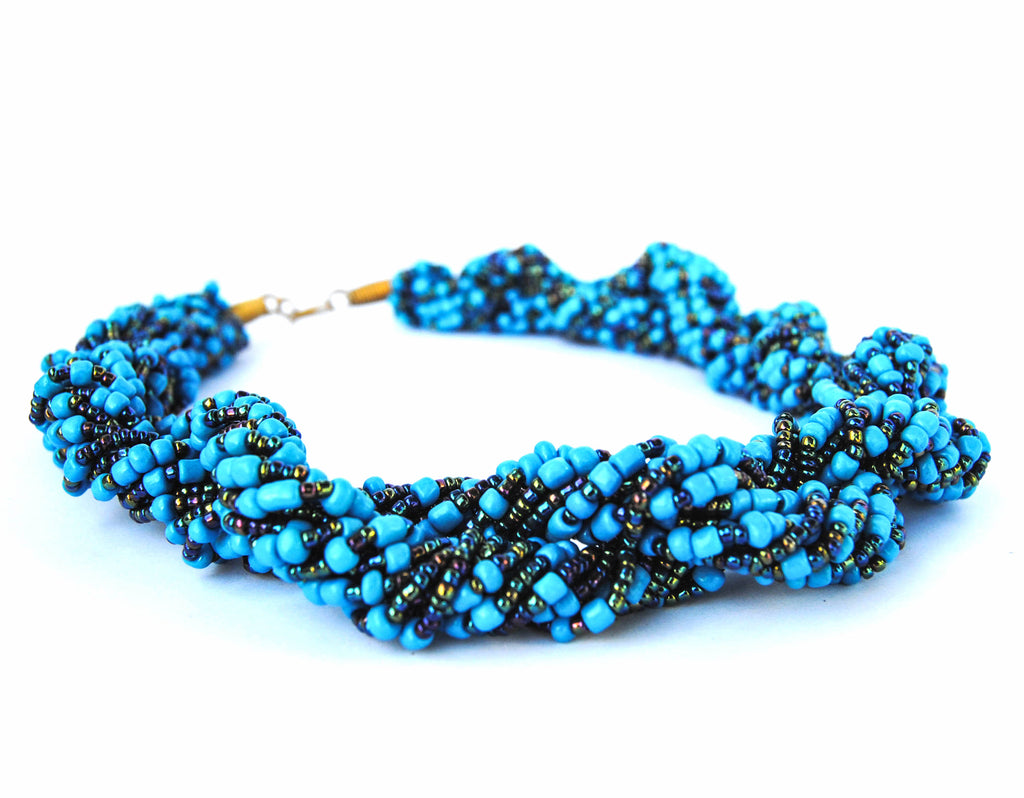 Blue Twist Necklace