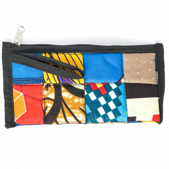 Black Quilted Wristlet