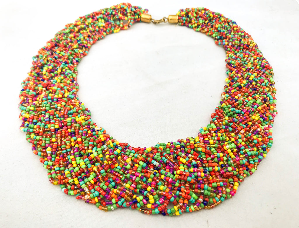 Multicolor Braided Necklace