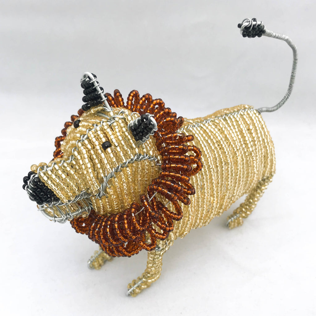 Bead and Wire Lion