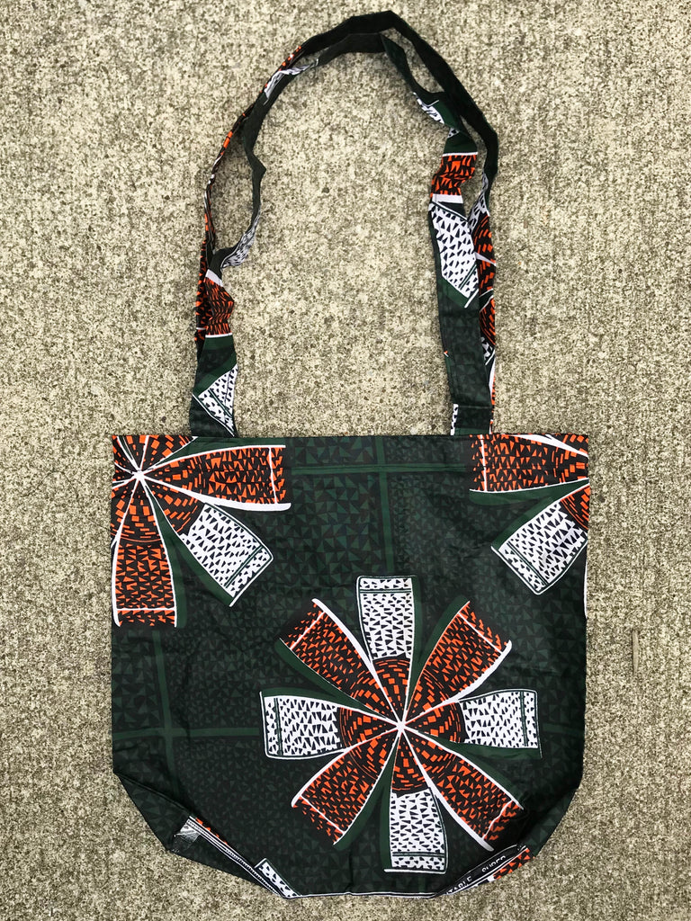 Green and Orange Kitenge Shoulder Bag